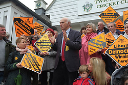 April 28, 2017 - London, United Kingdom - Former buseness secrecy, Vince Cable attends a press rally in Twickenham, West London, on April 28, 2017 where he is standing for MP. Cable warned of economic uncertainty following Brexit. (Credit Image: © Jay Shaw Baker/NurPhoto via ZUMA Press)