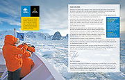 Travelers explore Antarctica published in National Geographic Lindblad Expeditions magazine.