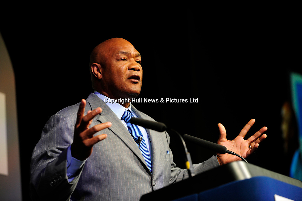 6 June 2008: Business Week 2008, Hull.George Foreman.<br /> Picture:Sean Spencer/Hull News & Pictures 01482 210267/07976 433960<br /> High resolution picture library at http://www.hullnews.co.uk<br /> ©Sean Spencer/Hull News & Pictures Ltd