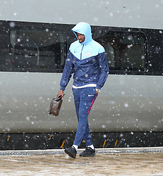 Yaya Toure and The Manchester City team are seen at Manchester Piccadilly Train Station on Thursday morning as they make their trip to London to face Arsenal in the premier league