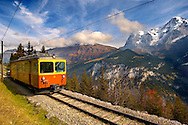 Murren fenicular Train - Switzerland .<br /> <br /> Visit our SWITZERLAND  & ALPS PHOTO COLLECTIONS for more  photos  to browse of  download or buy as prints https://funkystock.photoshelter.com/gallery-collection/Pictures-Images-of-Switzerland-Photos-of-Swiss-Alps-Landmark-Sites/C0000DPgRJMSrQ3U