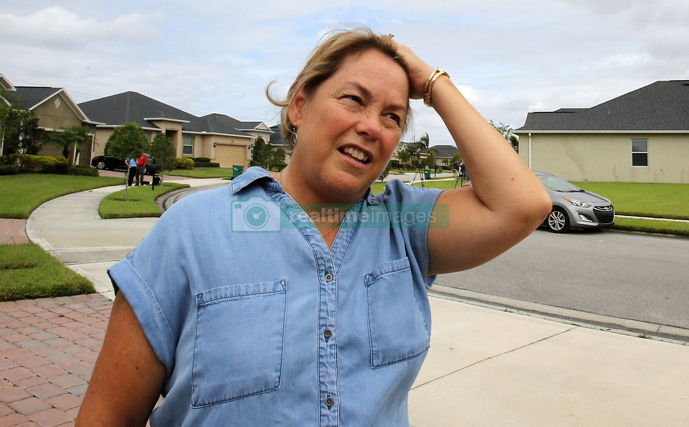 October 2, 2017 - Melbourne, Florida, U.S. - SHARON JUDY, the next-door neighbor to Las Vegas shooter Stephen Paddock when he owned a home in the Viera area of Melbourne, expresses her surprise, Monday, that he is responsible for the mass shooting. A gunman opened fire on a music festival crowd from the 32nd floor of the Mandalay Bay Resort and Casino. At least 58 people died in the shooting and 515 people were injured Sunday night. (Credit Image: © Joe Burbank/TNS via ZUMA Wire)