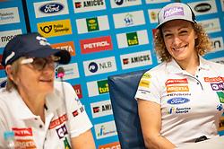 Darja Crnko and Ilka Stuhec during presentation of new alpine ski team of Ilka Stuhec before new season 2019/20, on June 10, 2019 in Telekom Slovenije, Ljubljana, Slovenia. Photo by Vid Ponikvar / Sportida
