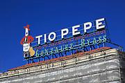 Tio Pepe sign,  Gonzalez Byass sherry, Plaza de la Puerta del Sol, Madrid city centre, Spain