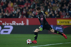 January 16, 2019 - Sevilla, Andalucia, Spain - Juan Soriano of Sevilla FC kick the ball during the Copa del Rey match between Sevilla FC v Athletic Club at the Ramon Sanchez Pizjuan Stadium on January 16, 2019 in Sevilla, Spain (Photo by Javier Montaño/Pacific Press) (Credit Image: © Javier MontañO/Pacific Press via ZUMA Wire)