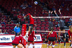 BLOOMINGTON, IL - September 28: Kaylee Martin during a college Women's volleyball match between the ISU Redbirds and the Southern Illinois Salukis on September 28 2019 at Illinois State University in Normal, IL. (Photo by Alan Look)