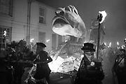 BORIS EFFIGY, Lewes Bonfire night, Nov 5. Lewes East Sussex.