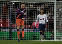 Football - 2018 / 2019 Premier League - Tottenham Hotspur vs. Manchester City<br /> <br /> John Stones (Manchester City) reacts at the final whistle at Wembley Stadium.<br /> <br /> COLORSPORT/DANIEL BEARHAM