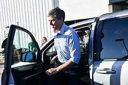 March 22, 2019 - Charleston, SC, United States - Democratic presidential hopeful Beto O'Rourke arrives to address supporters during a campaign stop at Tradesman Brewing Company March 22, 2019 in Charleston, South Carolina. South Carolina, called the First in the South, is the first southern democratic primary in the presidential nomination race. (Credit Image: © Richard Ellis/ZUMA Wire)