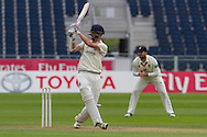 Oliver Hannon-Dalby(Warwickshire County Cricket Club) in action during the LV County Championship Div 1 match between Durham County Cricket Club and Warwickshire County Cricket Club at the Emirates Durham ICG Ground, Chester-le-Street, United Kingdom on 14 July 2015. Photo by George Ledger.
