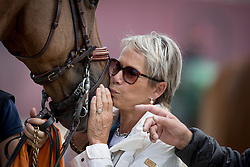 Madame Josee Mauger, FRA, Radja Des Fontaines, Billot Mathieu<br /> Furusiyya FEI Nations Cup Jumping Final - Barcelona 2016<br /> © Hippo Foto - Libby Law<br /> 24/09/16