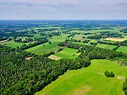 Nederland, Overijssel, Gemeente Dinkelland, 21–06-2020; natuurgebied Roderveld, bossen met loof- en naaldbomen en coulisselandschap tussen  Denekamp en Oldenzaal.<br /> Nature reserve Roderveld, forests with deciduous and coniferous trees and a scenic landscape between Denekamp and Oldenzaal.<br /> <br /> luchtfoto (toeslag op standaard tarieven);<br /> aerial photo (additional fee required)<br /> copyright © 2020 foto/photo Siebe Swart