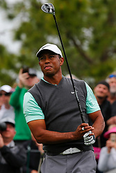 March 16, 2019 - Ponte Vedra Beach, FL, U.S. - PONTE VEDRA BEACH, FL - MARCH 16: Tiger Woods of the United States tees off on the fourth hole during the third round of THE PLAYERS Championship on March 16, 2019 on the Stadium Course at TPC Sawgrass in Ponte Vedra Beach, Fl. (Photo by David Rosenblum/Icon Sportswire) (Credit Image: © David Rosenblum/Icon SMI via ZUMA Press)