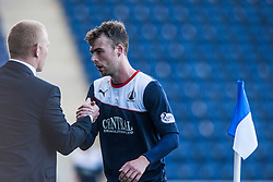 Falkirk's manager Gary Holt subs Falkirk's Rory Loy.<br /> Falkirk 2 v 1 Queen of the South, Scottish Championship 5/10/2013, played at The Falkirk Stadium.<br /> ©Michael Schofield.