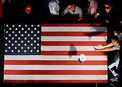 Supporters wait for Republican presidential nominee Donald Trump to speak at a rally in the BB&T center, Ft Lauderdale, FL, USA, August 10, 2016. Photo by Dennis Van Tine/ABACAPRESS.COM