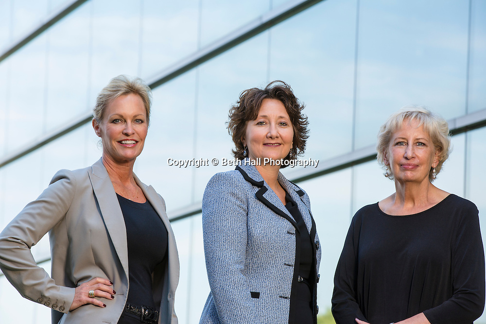 Sarah Lilygren, Dean Stacy Leeds and Susan Barrett portrait for Arkansas Money and Politics<br /> <br /> Photo by Beth Hall