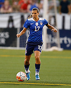 CHATTANOOGA, TN - AUGUST 19:  Defender Tobin Heath #17 of the United States dribbles during the friendly match against Costa Rica at Finley Stadium on August 19, 2015 in Chattanooga, Tennessee.  (Photo by Mike Zarrilli/Getty Images)