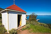The lookout at Prisoners Harbor, Santa Cruz Island, Channel Islands National Park, California USA