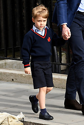 Prince George enters the Lindo Wing at St Mary's Hospital in Paddington, London. Photo credit should read: Doug Peters/EMPICS Entertainment