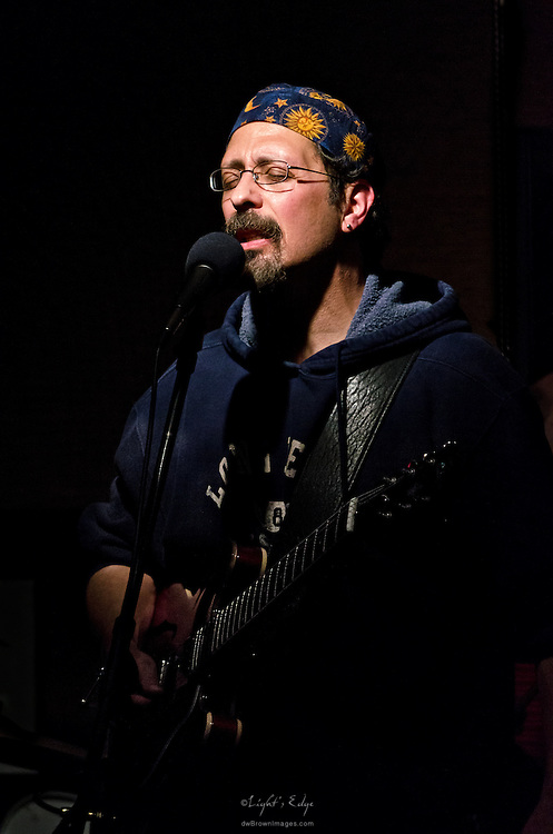 Ralph Confredoon guitar and vocals performing with West River Drive at The Bus Stop Music Cafe in Pitman, NJ.