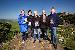 Doug Johnston, Matt Bendoris, Chris Brookmyre, Craig Robertson and Gordon Brown. The Caledonian Challenge Bloody Scotland Writers Team in Stirling for the launch of Bloody Scotland.