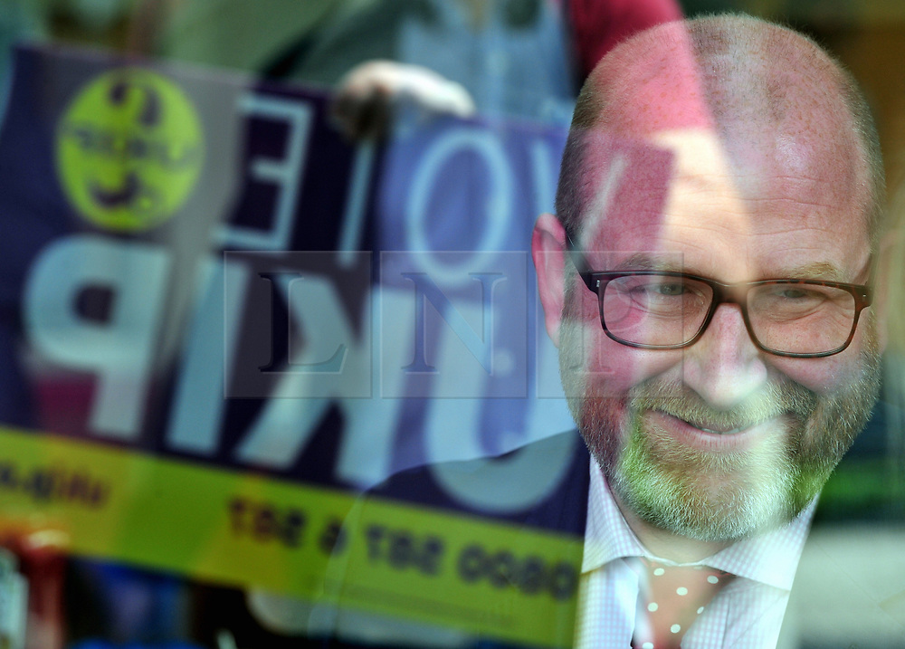 © Licensed to London News Pictures. 07/06/2017<br /> Paul Nuttall in a local cafe.  <br /> UKIP Leader Paul Nuttall in Corrington,Essex this afternoon on a walkabout on the last day of the election campaign for 2017.<br /> Photo credit: Grant Falvey/LNP