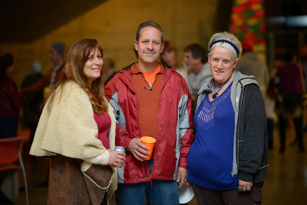 Art Patrons at the Akron Art Museum during the finale reception of Akron Art Prize 2015