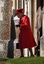Queen Elizabeth II after attending the Christmas Day morning church service at St Mary Magdalene Church in Sandringham, Norfolk.