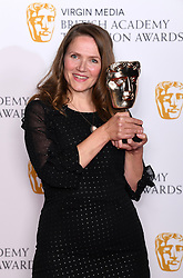 Jessica Hynes in the press room during the Virgin Media BAFTA TV awards, held at the Royal Festival Hall in London. Photo credit should read: Doug Peters/EMPICS