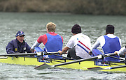 Henley. England, GB Rowing crews training on Henley Reach.<br /> Photo Peter Spurrier.<br /> 11/03/2004 - British International Rowing - Training<br />  GBR cox Christian Cormack.   [Mandatory Credit. Peter SPURRIER/Intersport Images]