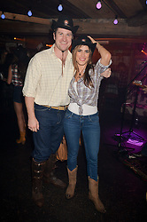 ED HAUGHEY and CRISTINA YEPEZ at a party to celebrate the opening of Beaver Lodge, a new bar & club from the Inception Group at 266 Fulham Road, London SW10 on 4th December 2014.
