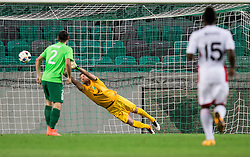Aleksander Seliga of NK Olimpija during 1st goal of AS Trencin during 1st Leg football match between NK Olimpija Ljubljana (SLO) and FK AS Trenčin (SVK) in Second Qualifying Round of UEFA Champions League 2016/17, on July 13, 2016 in SRC Stozice, Ljubljana, Slovenia. Photo by Vid Ponikvar / Sportida