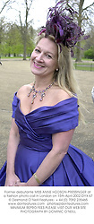 Former debutante MISS ANNE HODSON-PRESSINGER at a fashion photo call in London on 15th April 2002.OYX 67