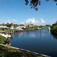 Landscapes of Jonathan's Landing, Jupiter, Florida.