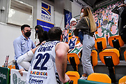 Stefano Gentile, Fernando Gentile, Altea Castellaneta<br /> Banco di Sardegna Dinamo Sassari - Umana Reyer Venezia<br /> Legabasket LBA Serie A UnipolSai 2020-2021<br /> Sassari, 27/02/2021<br /> Foto L.Canu / Ciamillo-Castoria