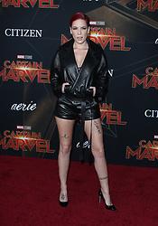 Captain Marvel Premiere - Los Angeles. 04 Mar 2019 Pictured: Halsey. Photo credit: MEGA TheMegaAgency.com +1 888 505 6342