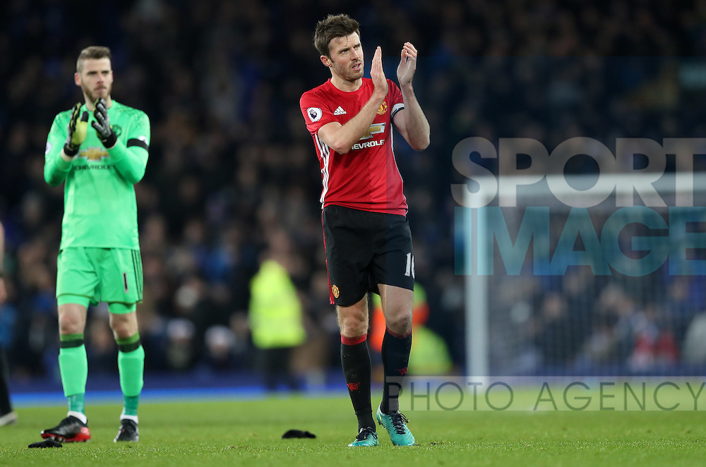 Michael Carrick of Manchester United waves to the fans after the Premier League match at Goodison Park, Liverpool. Picture date: December 4th, 2016.Photo credit should read: Lynne Cameron/Sportimage