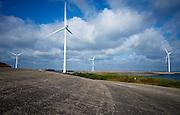 Windturbines op het voormalige werkeiland Neeltje Jans in Zeeland - Windturbines on Neeltje Jans, Zeeland, Netherlands