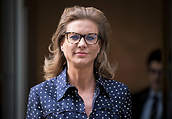 © Licensed to London News Pictures. 23/07/2020. London, UK. British businesswoman AMANDA STAVELEY at the Rolls Building of the Royal Courts of Justice in London where she is currently in dispute with Barclay's Bank over a £2 billion loan to Qatari investors. Staveley's firm, PCP Capital Partners claims it is still owed £1. 5 billion in damages for its involvement in the deal. Photo credit: Ben Cawthra/LNP
