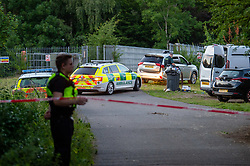 © Licensed to London News Pictures. 23/06/2020. Cookham, UK. A rapid response paramedic vehicle at the scene close to the River Thames. A search and rescue operation was launched Tuesday evening after reports that several people, believed to be refugees from Syria, got into difficulties, it is understood that one person was rescued and transferred to hospital and one person remained unaccounted for. Multiple emergency resources were deployed to the scene, close to Odney Common in Cookham, including lowland search and rescue teams. Photo credit: Peter Manning/LNP