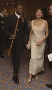 Mr. and Mrs. Chris Eubank. Muhammed Ali birthday party, Hilton Park Lane. London. 15 January 2001  © Copyright Photograph by Dafydd Jones 66 Stockwell Park Rd. London SW9 0DA Tel 020 7733 0108 www.dafjones.com
