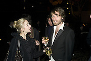 Nathalie Harrison and Tom Burkett, 130 Years Of Veuve Clicquot Yellow, The Wapping Project, Wapping Wall, London, E1,13 November 2007. -DO NOT ARCHIVE-© Copyright Photograph by Dafydd Jones. 248 Clapham Rd. London SW9 0PZ. Tel 0207 820 0771. www.dafjones.com.