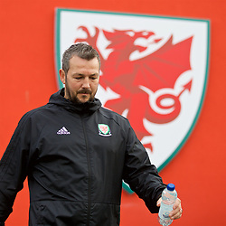 WREXHAM, WALES - Wednesday, October 30, 2019: Wales coach Matt Jones before the 2019 Victory Shield match between Wales and Republic of Ireland at Colliers Park. (Pic by David Rawcliffe/Propaganda)