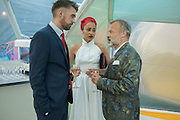 NICK LAIRD: ZADIE SMITH; GRAHAM NORTON; , Serpentine's Summer party co-hosted with Christopher Kane. 15th Serpentine Pavilion designed by Spanish architects Selgascano. Kensington Gardens. London. 2 July 2015.