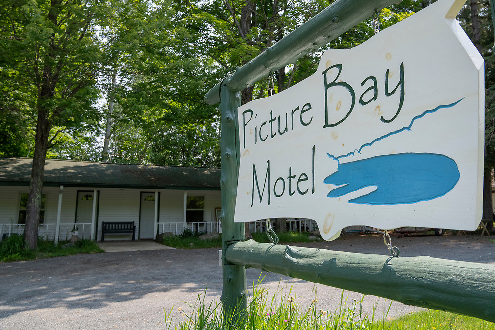 Scenes from the Picture Bay Motel in Big Bay, Michigan.