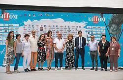 July 26, 2018 - Salerno, Campania, Italy - Team of the film Zanna Bianca seen posing for the camera at the festival..The 48th edition of the Giffoni Film Festival, a cinema for children. (Credit Image: © Ernesto Vicinanza/SOPA Images via ZUMA Wire)