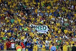 Torcida do Brasil na partida entre Brasil e Espanha válida pela final da Copa das Confederações 2013, no estádio Maracana, no Rio de Janeiro. FOTO: Jefferson Bernardes/Preview.com