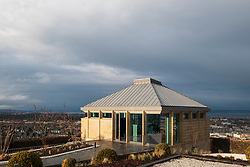 Edinburgh, Scotland, UK. 21 November, 2018. The historic City Observatory on Calton Hill will reopen as The Collective, an arts organisation and will feature the restored City Observatory, City Dome, and a purpose-built exhibition space as well as The Lookout , a new restaurant run by The Gardener's Cottage owners. It opens to the public on 24 November, 2018. Pictured, The Lookout Restaurant. ++ Editorial Use Only ++