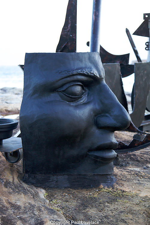 The world's largest free-to-the-public outdoor sculpture exhibition, Sculpture by the Sea, Bondi. .Orest Keywan-Above The Line.