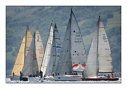 Bell Lawrie Scottish Series 2008. Fine North Easterly winds brought perfect racing conditions in this years event...Class 2 Start with IRL29213 Something Else, GBR7031T Sanguma, GBR8410R Premier Flair, IRL789 Rosie,